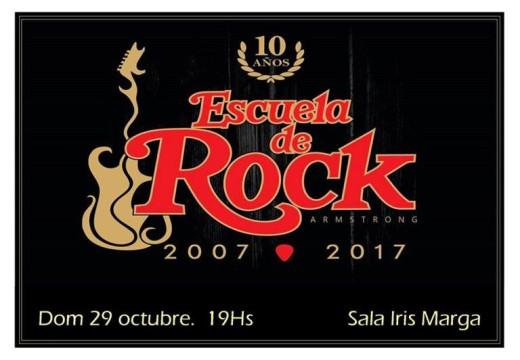 Festejos por el 10° Aniversario de la Escuela de Rock Armstrong.