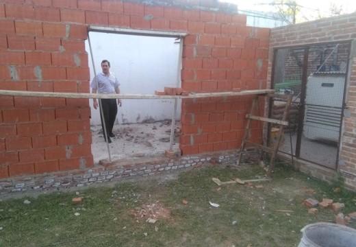 Armstrong. Construcción de nueva sala en el SAMCO.