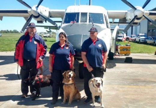 Tres perros de Santa Fe participaron del hallazgo del cuerpo en Chubut.