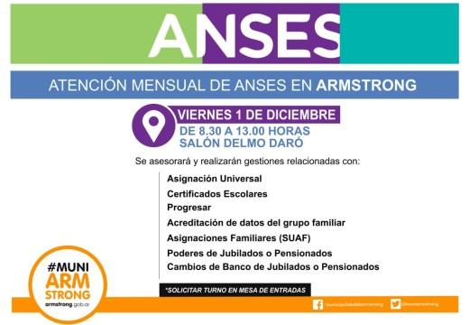 Armstrong. Comunicado consultas ANSES noviembre 2017.