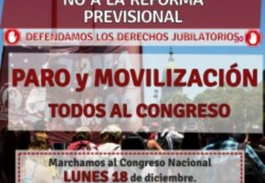 18D:AMSAFE. Paramos y movilizamos al Congreso contra la Reforma Previsional.REFORMA PREVISIONAL.