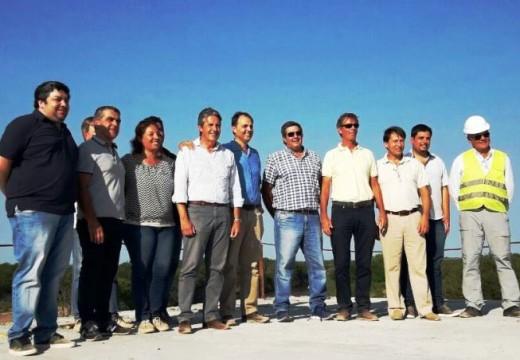 Rasetto recorrió la obra del nuevo puente de la ruta 26s sobre el Carcarañá.