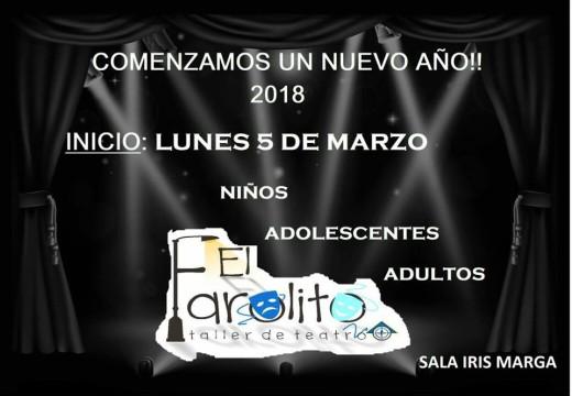 """Taller de Teatro """"El Farolito"""" reinicia sus actividades."""