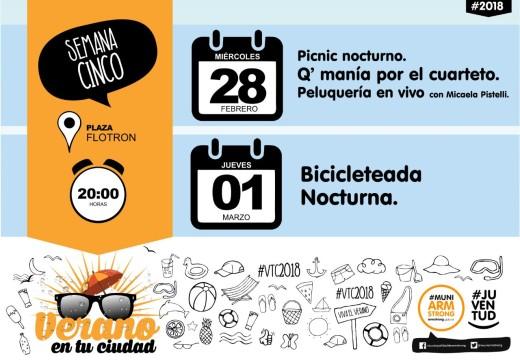 Verano en tu Ciudad 2018 Semana 5.