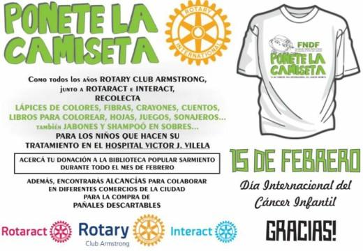 Rotary. Campaña de Concientización por el Día Internacional contra el Cáncer Infantil.