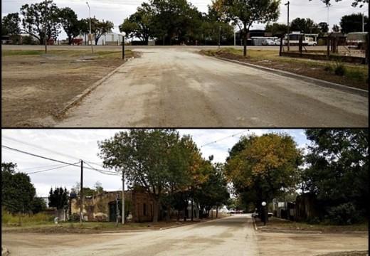 Las Rosas. Nueva salida a la ruta con mejorado de calle Lavalle.