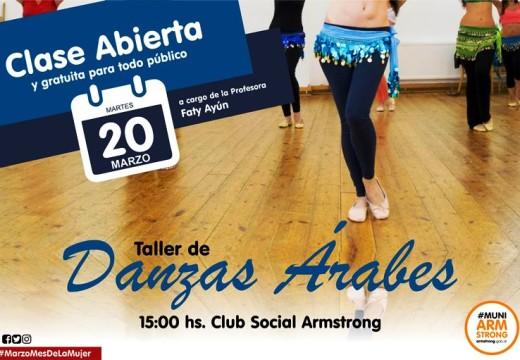 Hoy…Clase abierta de Danzas Arabes.