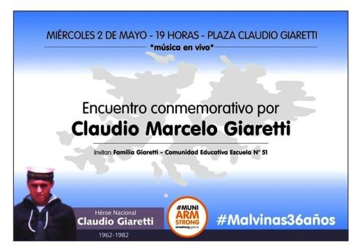 Encuentro conmemorativo por Claudio Marcelo Giaretti.