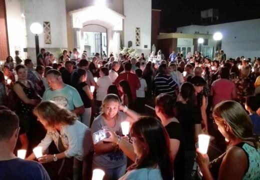 El viernes Santo se escenificó el Vía Crucis en la Plaza San Martin.