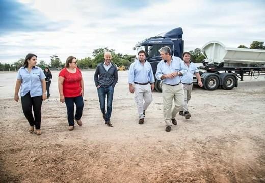 El Ministro de Transporte de la Nación estuvo en Las Rosas.