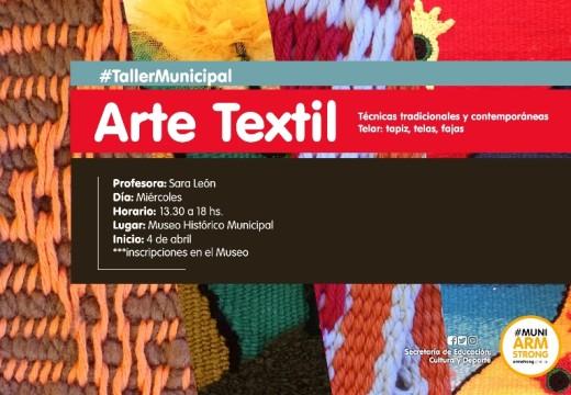 Comienza el Taller Municipal de Arte Textil.