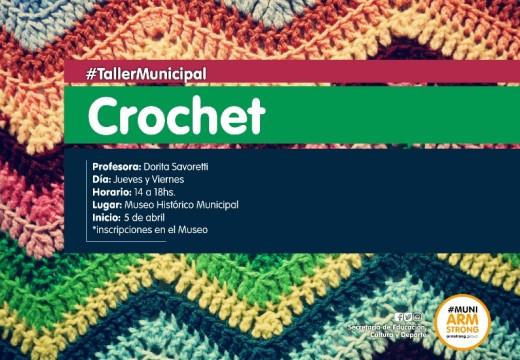 Taller de Tejido al Crochet en el Museo Historico Municipal.
