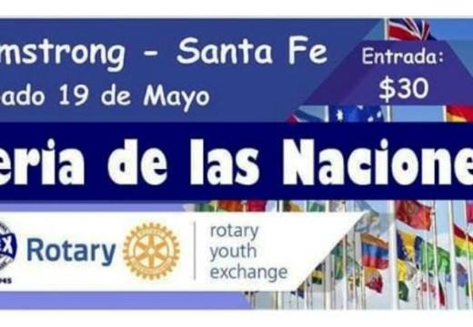 Rotary Club será sede de la Feria de las Naciones.