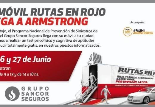 Móvil de Rutas en Rojo…Muy pronto en Armstrong.