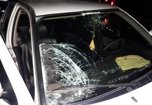 Armstrong. Accidente entre un auto y una motocicleta sobre la Ruta N° 178.