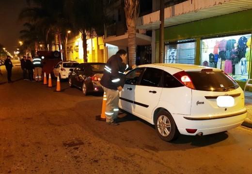Cañada de Gómez. Nueve vehículos retenidos en control de alcoholemia.