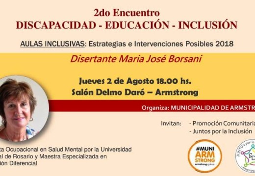 Armstrong. Segundo encuentro de Discapacidad, Educación, Inclusión.