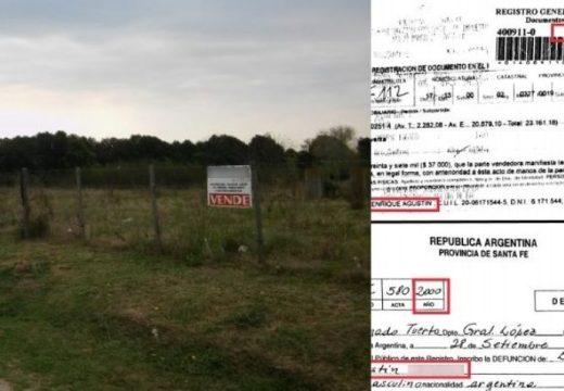 Muertos que venden campos: ya son 30 estafas por $500 millones.