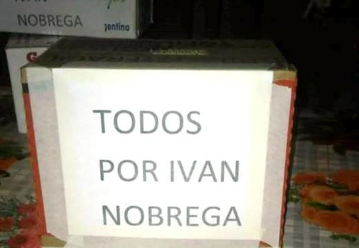 """Armstrong. Solidaridad: """"Todos por Iván Nobrega""""."""