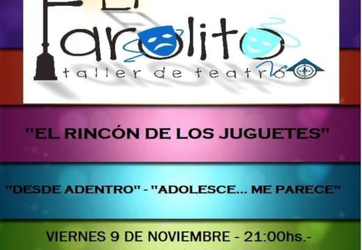 """Taller de Teatro """"el Farolito"""", presenta su 4ta Muestra Anual."""