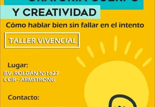 El C.C.I.R Invita al taller «Oratoria, Cuerpo y Creatividad».