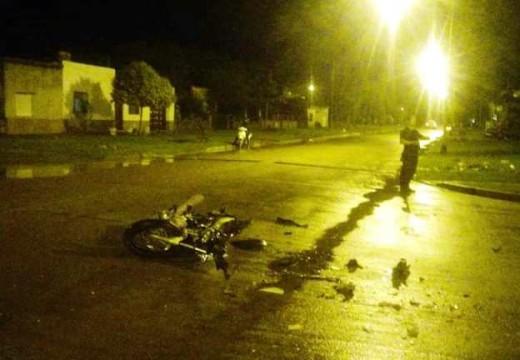 Armstrong. Accidente en intersección de calles Moreno y Bell Ville.
