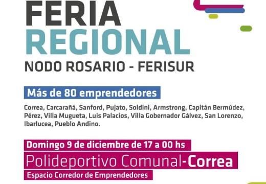 Feria Regional de Emprendedores en Correa.
