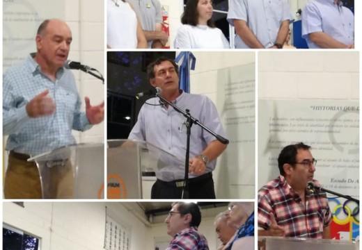 Emotivo Homenaje a los cinco Cooperativistas armstronenses.
