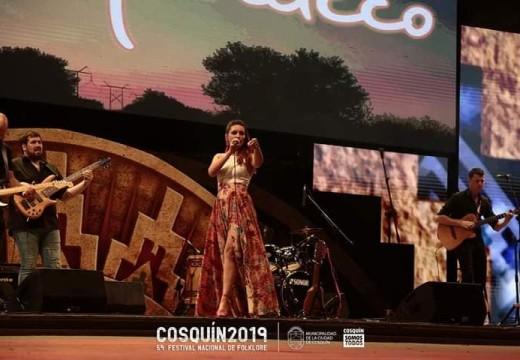 Julieta Marucco participo en el escenario mayor en Cosquín.