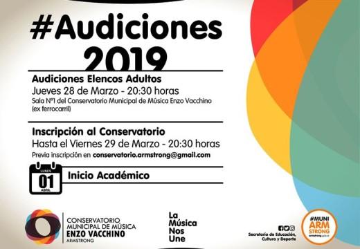 Inicio de las actividades en el Conservatorio Enzo Vacchino.