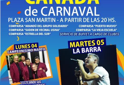 Este lunes y martes Cañada vive el Carnaval.