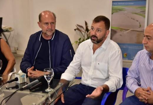 Cogno recibio al Senador Perotti quien visitó Cañada de Gómez.