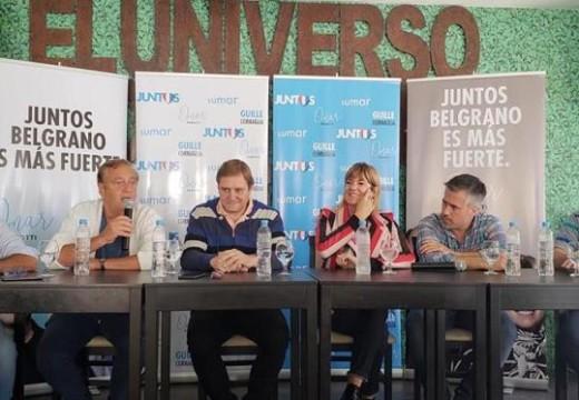 Cornaglia recorrió el departamento Belgrano junto a Rodenas y Busatto.