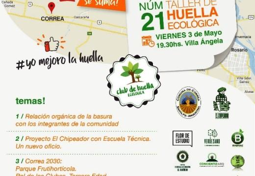 Llega el primer Taller de Huella Ecológica a Correa.