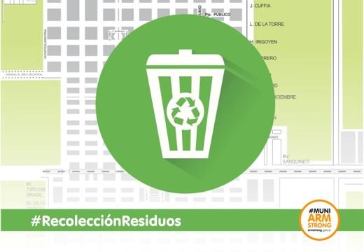 El viernes 10 de julio habrá recolección de residuos.