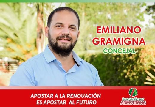 """Emiliano Gramigna: """"El domingo se abre la posibilidad de un presente y un futuro mejor"""""""