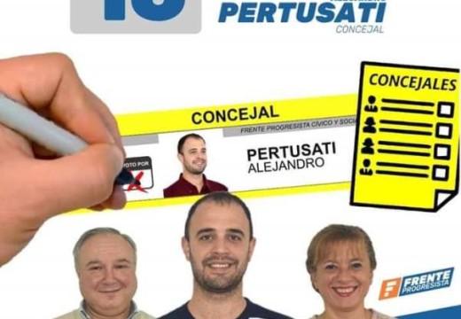 """Pertusati : """"Somos la mejor oferta para la Ciudad, para el Departamento y la Provincia"""""""
