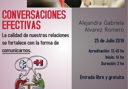 Invitación a Charla sobre Conversaciones Efectivas.