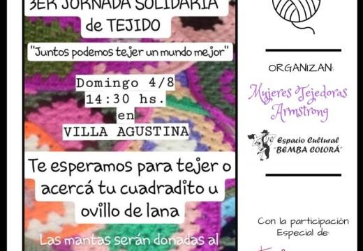 Tercera Jornada Solidaria de Tejido, convocan Mujeres Tejedoras de Armstrong.