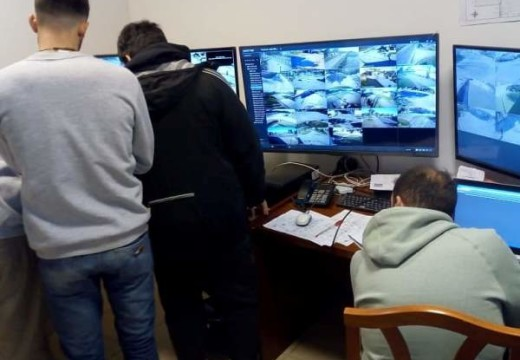 Correa: Trabajos en el Centro de Monitoreo de Seguridad.