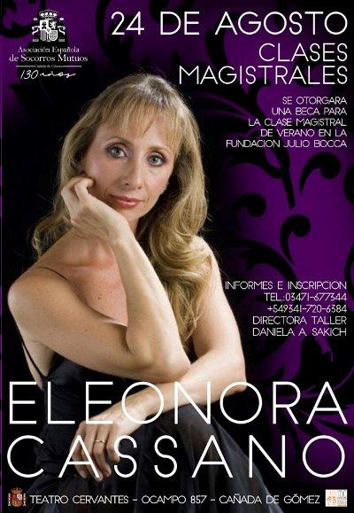 Cañada de Gómez. Danzas clásicas a cargo de Eleonora Cassano.