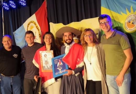 Correa: Giaccone asistió al encuentro de danzas Junto a campeones santafesinos de Malambo.