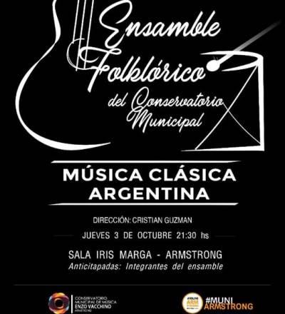 Nueva presentación de Ensamble Folclórico del Conservatorio Municipal.