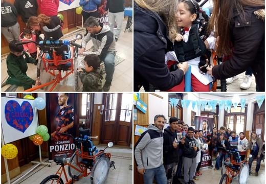 Leo Ponzio: nuevo gesto solidario en una escuela.