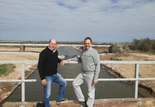 Rasetto recorrió obras en puentes de Iriondo.