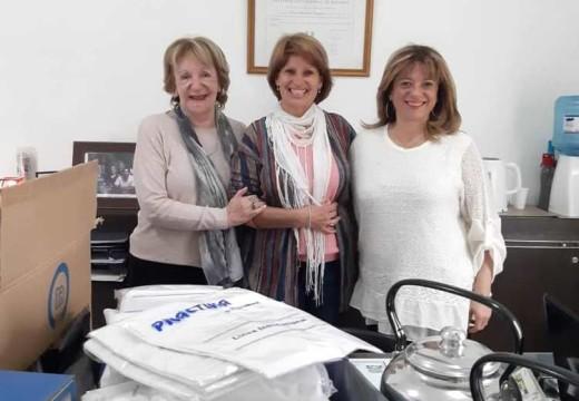 El SAMCo local recibió donaciones de Silvia Poeta.