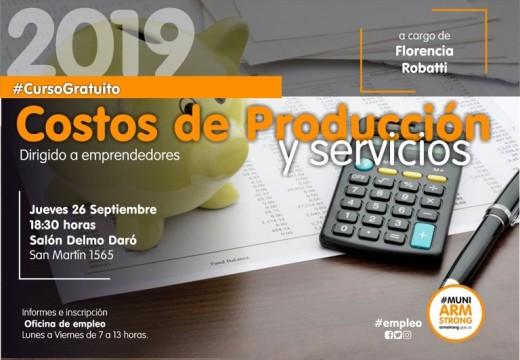 Curso sobre costos de productos y servicios.
