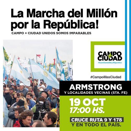 Armstrong. La Marcha del Millón por la República.
