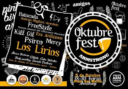 Sábado 5 de octubre llega la Oktubre Fest.