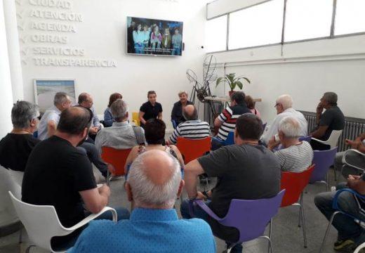 Clerici se reunió con clubes y colegio de arquitectos.